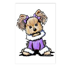 Purple Yorkie Cutie Postcards (Package of 8)