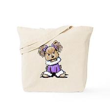 Purple Yorkie Cutie Tote Bag