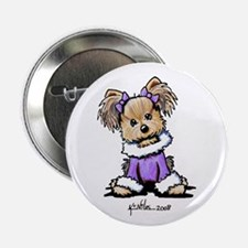 "Purple Yorkie Cutie 2.25"" Button"