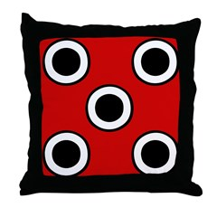 Red with Dots Throw Pillow