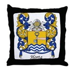 Horta Family Crest Throw Pillow