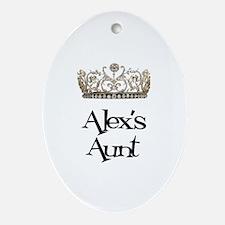 Alex's Aunt Oval Ornament