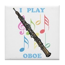 I Play Oboe Tile Coaster