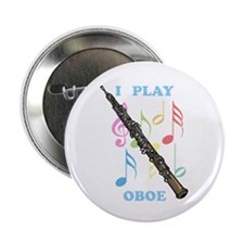 "I Play Oboe 2.25"" Button (10 pack)"