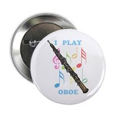 "I Play Oboe 2.25"" Button"