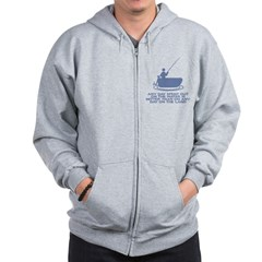 A Day On Water Zip Hoodie