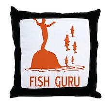 Fish Guru Throw Pillow