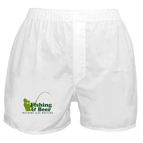 Fishing & Beer Boxer Shorts