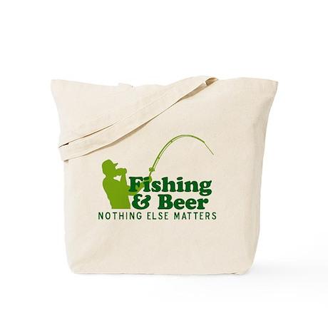 Fishing & Beer Tote Bag