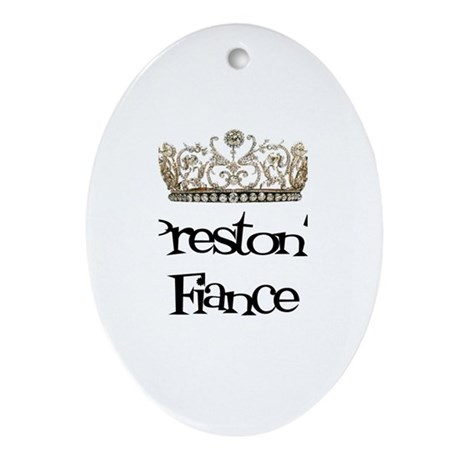 Preston's Fiance Oval Ornament