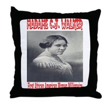 Madame C.J. Walker Throw Pillow