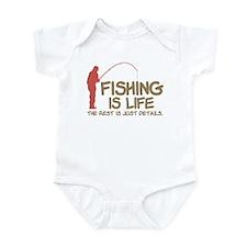 Fishing Is Life Infant Bodysuit