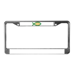 Fish Geek License Plate Frame