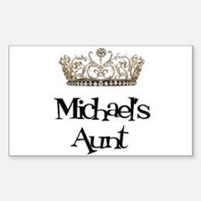 Michael's Aunt Rectangle Decal