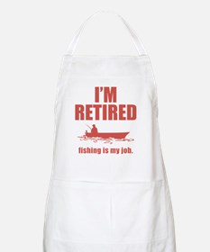 Fishing Is My Job BBQ Apron
