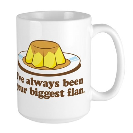 Biggest Flan - Large Mug (Handle Right)