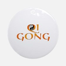 Qi Gong Design Ornament (Round)