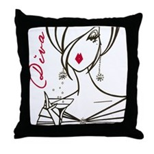 Divas Rule! Throw Pillow