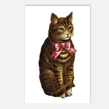 Cat and red bow Postcards (Package of 8)