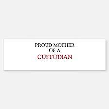 Proud Mother Of A CUSTODIAN Sticker Bumper (10)