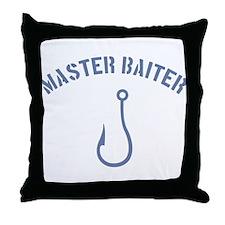 Master Baiter Throw Pillow