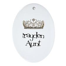 Brayden's Aunt Oval Ornament