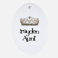 Brayden's Aunt Oval Ornament