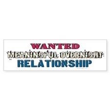 Wanted: Meaningful ... Bumper Bumper Sticker