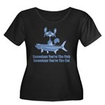 Somedays You're The Cat Women's Plus Size Scoop Ne