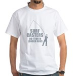 Surfcasters Longer Rods White T-Shirt