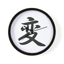 Kanji for Change Wall Clock