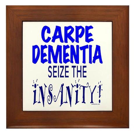 Carpe Dementia Framed Tile