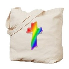 Rainbow Cross Tote Bag