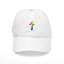 Rainbow Cross Baseball Cap