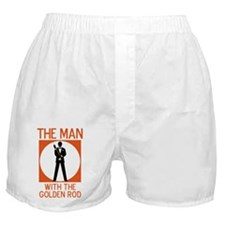 The Man With The Golden Rod Boxer Shorts