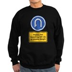 U-Turn Fishing Hook Sweatshirt (dark)