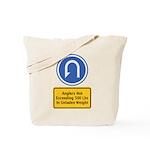 U-Turn Fishing Hook Tote Bag