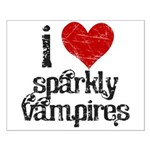 I Love Sparkly Vampires Small Poster