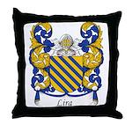 Lira Family Crest Throw Pillow