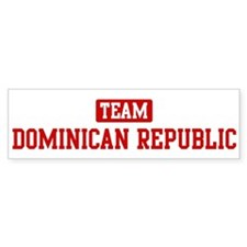 Team Dominican Republic Bumper Bumper Sticker