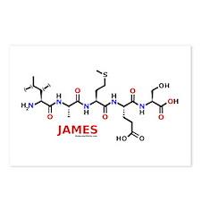 James name molecule Postcards (Package of 8)