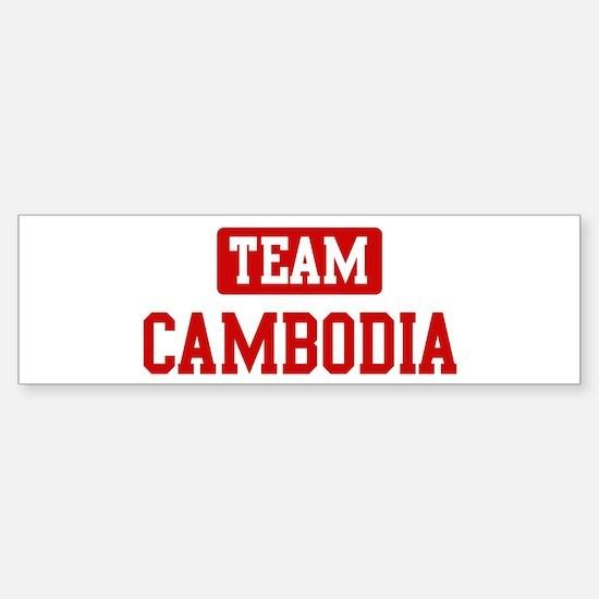 Team Cambodia Bumper Car Car Sticker