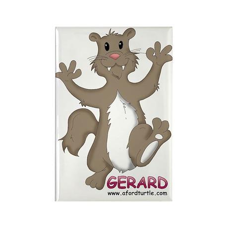 Gerard Mongoose Rectangle Magnet