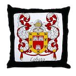 Lobato Family Crest Throw Pillow