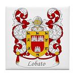 Lobato Family Crest Tile Coaster