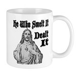 He Who Smelt It Dealt It Mug