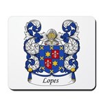 Lopes Family Crest Mousepad
