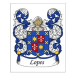 Lopes Family Crest Small Poster