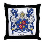 Lopes Family Crest Throw Pillow