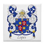 Lopes Family Crest Tile Coaster